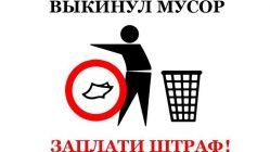 Штраф за свалку мусора в неположенном месте