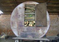 Печь для производства древесного угля своими руками
